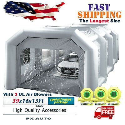 Details About Inflatable Car Spray Paint Booth Portable Auto Paint