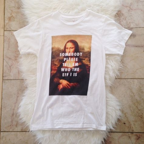 Fly Art Rad Beyoncé T-Shirt NWOT. Worn twice. Only imperfection is that Mona Lisa has a bit of fading on her outfit at the very bottom, only noticeable if you look very closely. I love this shirt because 1) Beyoncé lyrics & 2) everyone knows who Mona Lisa is . ❗️NO TRADES❗️Willing to give you cheaper shipping. ⚡️PRICE FIRM⚡️ Fly Art Tops Tees - Short Sleeve