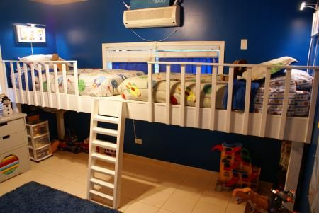 Double Loft Bed Do It Yourself Home Projects From Ana White Double Loft Beds Kid Beds Bunk Bed Designs