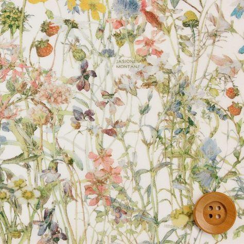 2016春夏コレクション。リバティプリント タナローン320(Wild Flowers ワイルド・フラワーズ)モスグリーン&カラフル リバティ