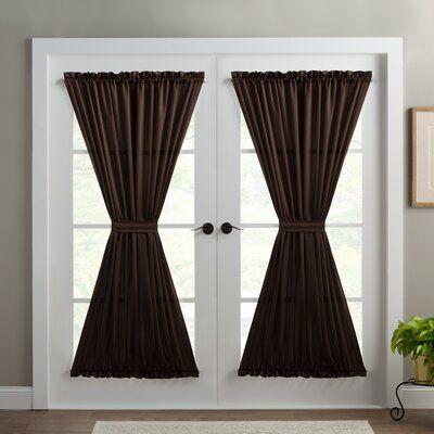 Wayfair Basics Wayfair Basics Solid Room Darkening Thermal Rod Pocket Single Curtain Door Panel Colour Chocolate Door Curtains Curtains Room Darkening
