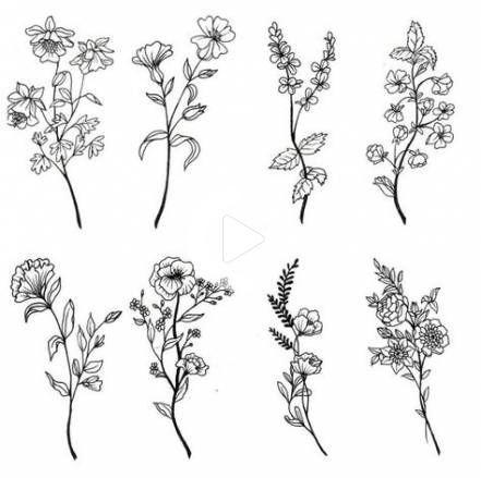 18 Nowe Pomysly Na Kwiaty Doodles Rysunek Czarno Bialy Plant Tattoo Flower Tattoo Flower Sketches