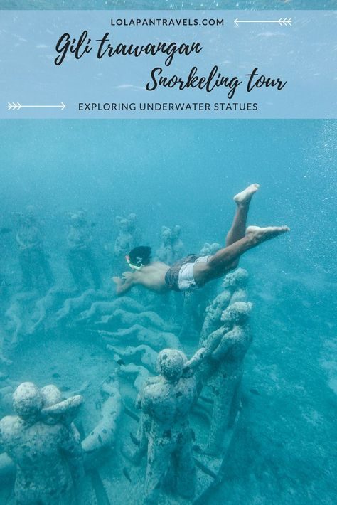 The Gili Trawangan snorkeling tour is one of the most popular things to do on the Gili islands. On your snorkel trip you can visit turtles, explore underwater statues and even a shipwreck. It's definitely an activity you shouldn't miss if you visit the Gili islands.