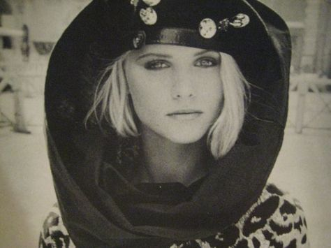 Christine Bolster ~ model I admired in the 1980's.