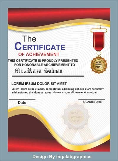 Download Template Cdr : download, template, Certificate, Templates, Templates,, Coreldraw, Design,, Design