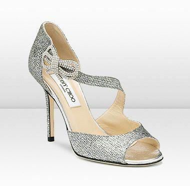 Scarpe Sposa Jimmy Choo Amazon.Jimmy Choo Secret Glitter Fabric Sandals White Jimmy Choo