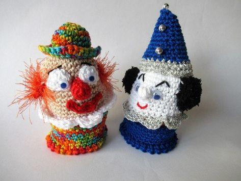 Häkelanleitung Eierwärmer Eierbecher Clowns