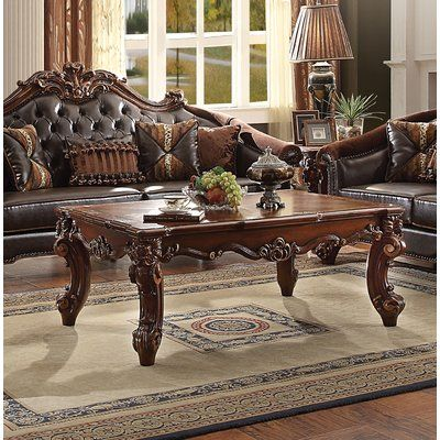 Astoria Grand Kaitlin Coffee Table Color Gold Patina Coffee Table Traditional Coffee Table Marble Coffee Table