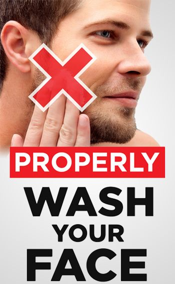 How To Properly Wash Your Face 5 Mistakes Men Make Mens Skin Care Men Skin Care Routine Night Time Skin Care Routine