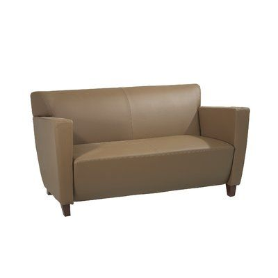 Ebern Designs Fowlerton Leather Settee Love Seat Leather