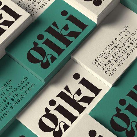 GIKI Design Studio Business Card - Business Card Design Inspiration