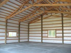 Scissor Truss Roof Building A Pole Barn Pole Barn Insulation Pole Barn Trusses