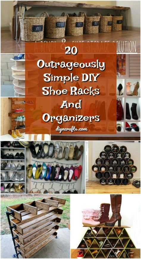 20 Outrageously Simple DIY Shoe Racks And Organizers You'll