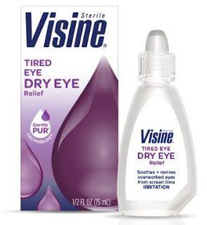 دليل القطرات Visine Tired Eye Dry Eye Relief Dry Eyes Relief Tired Eyes Dry Eyes