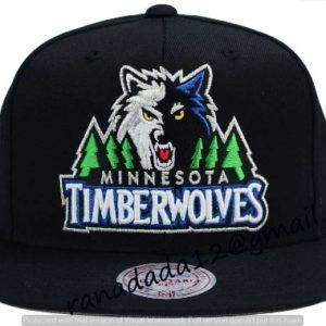 28ab7854392ff Minnesota Timberwolves Mitchell and Ness NBA XL Logo Snapback Cap ...