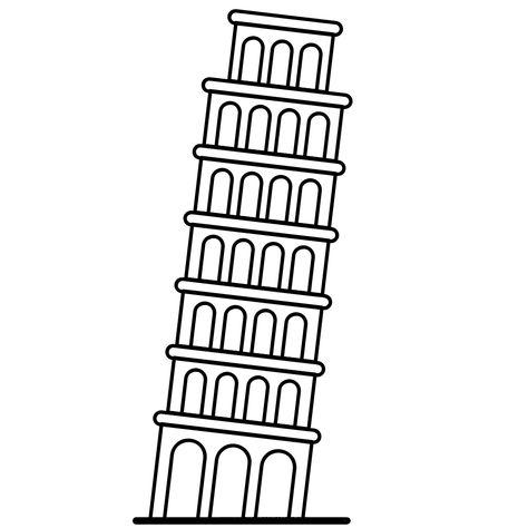 Torre De Pisa Desenho Para Colorir Ultra Kleurplaten Colorir