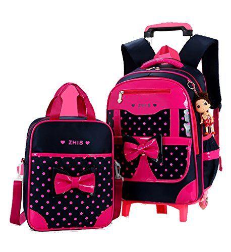 3pcs KIDS ROLLING BACKPACK SCHOOL BAG ROLLER LUGGAGE SUITCASE FLASH WHEELS NEW