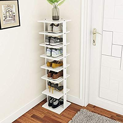 7-Tier Shoe Rack Space Saving Storage Organizer Cabinet Tower Free Standing