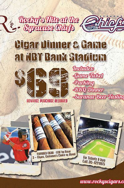 Cig Syracuse Chiefs Baseball Flyer  Graphic Design