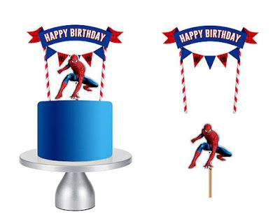 Spiderman Movie Free Printable Cake Toppers Oh My Fiesta For Geeks In 2020 Spiderman Birthday Cake Spiderman Cake Spiderman Birthday Party