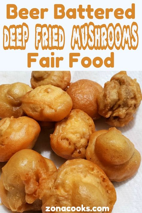 These Beer Battered Deep Fried Mushrooms are fried to a crispy golden brown with the perfect beer batter coating over delicious whole button mushrooms. Deep Fried Mushrooms, Battered Mushrooms, Breaded Mushrooms, Stuffed Mushrooms, Deep Frying Batter Recipe, Beer Batter Recipe, Deep Fry Batter, Fried Mushroom Recipes, Deep Fryer Recipes