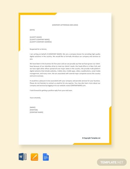 Free Business Proposal Letter For Service Template Download 1875 Letters In Word Apple Pag Business Proposal Letter Proposal Letter Business Letter Template
