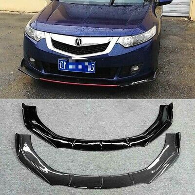 Carbon Fiber Abs Front Bumper Lip Splitter For Honda Accord Euro Tsx 2012 2015 In 2020 Honda Accord Honda Honda Civic Sedan