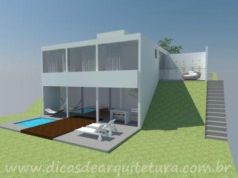 photo de maison terrain en pente Maison Pinterest Architecture - maison sur terrain en pente