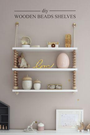 Preciously Me blog  DIY - Wooden Beads Shelves crafts\diy