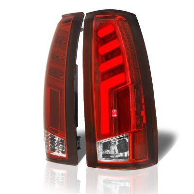 Chevy Silverado 1988 1998 Tube Led Tail Lights Red In 2020 Led Tail Lights Tail Light Chevy 1500
