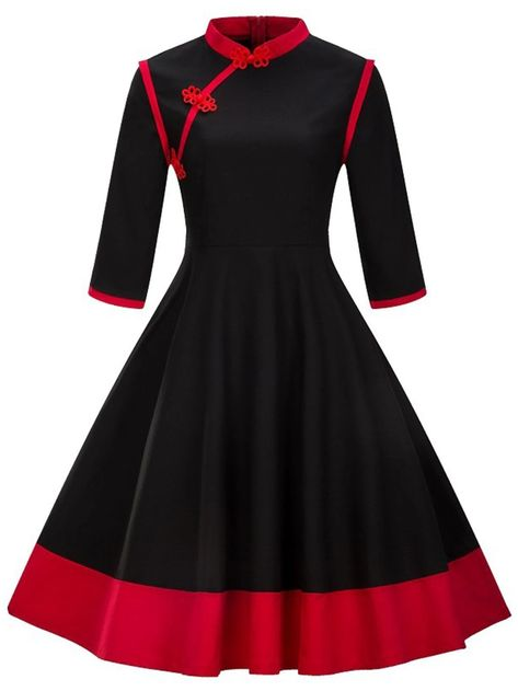 1950s Chinese Standing Collar Dress – LuveStyle