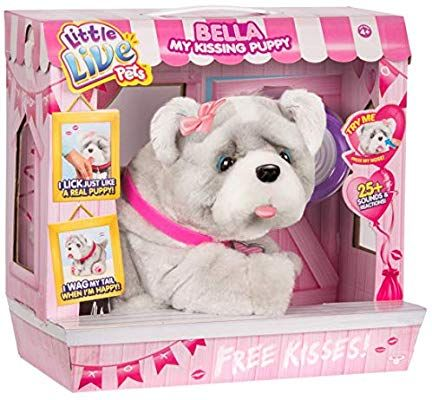 Bella My Kissing Puppy Dog Interactive Little Live Pet Exclusive Little Live Pets Baby Girl Toys Toddler Girl Gifts