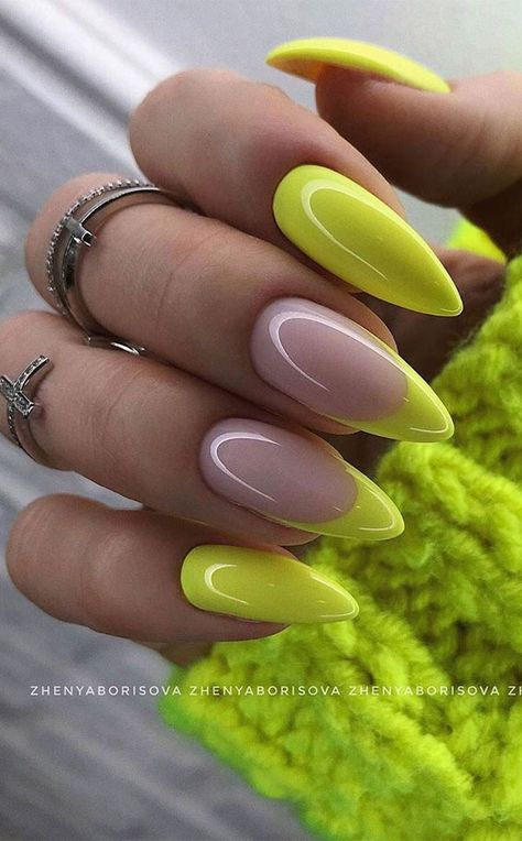 The 45 pretty nail art designs that perfect for spring looks 26 summer Gorgeous summer nail colors & designs to try this summer Funky Nails, Neon Nails, Trendy Nails, Stylish Nails, Neon Nail Art, Rainbow Nails, Bling Nails, Bright Summer Acrylic Nails, Best Acrylic Nails