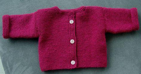 Gilet bébé en taille 6 mois Modéle d'un très ancien Marie Claire Idées en version maison. Il y a vraiment des couleurs...