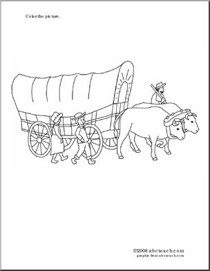 Coloring Page Covered Wagon