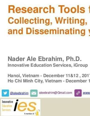 Research Tools For Collecting Writing Publishing And Disseminating Your Research Innovative Education Writing Research