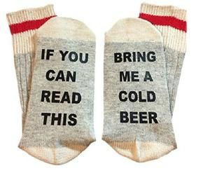 Qinyethree If You Can Read This Bring Me A Glass Of Wine Socks