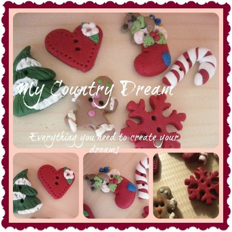 little buttons for christmas... www.mycountrydream.com