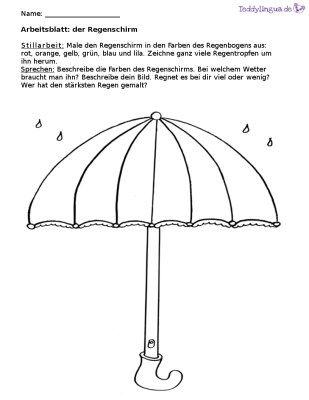 Arbeitsblatter Teddylingua Daf Arbeitsblatt Zum Thema Regenbogen