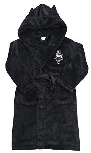 Minikidz Infant Girls Glitter Fleece Dressing Gown with Hood