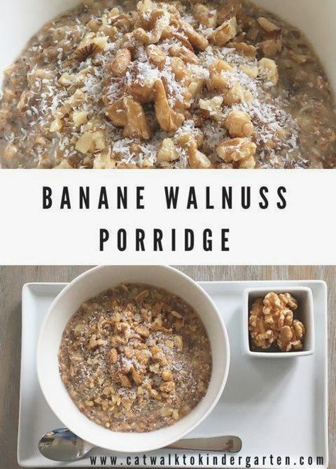 Banana walnut porridge #breakfast #breakfastideas #breakfastrecipes #ideas #quickbreakfast