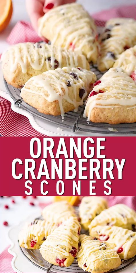 Homemade Orange Cranberry Scones: moist, tender, & even better than Starbucks! Loved the combination of fresh and dried cranberries. #orange #cranberry #scones #starbucks #quickbread #easy #recipe #moist #best #breakfast #baking #christmasmorning #holidays brunch #thanksgiving #food #bakingamoment