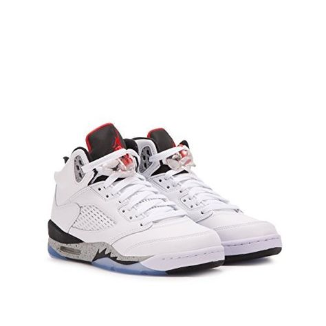 045176dc1f8 Jordan Air 5 Retro BG White Cement Kids Casual Sneakers - 6.5