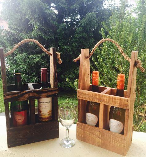 Repurposed Pallet Wine Caddy