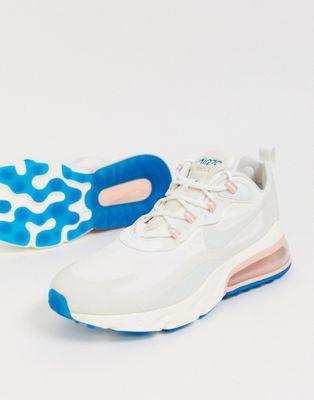 gran venta de liquidación alta moda Precio de fábrica 2019 Nike Air Max 270 React sneakers in white | ASOS in 2020 | Nike air ...