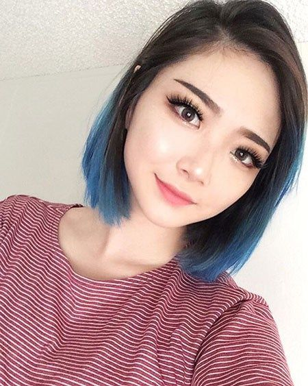 Short Ombre Hairstyles Blue Ombre Hair Short Ombre Hair Hair Dye Tips