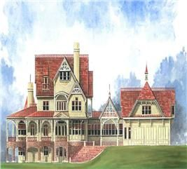 House Plan 106 1070 5 Bedroom 6728 Sq Ft Colonial European Home Tpc Cordelia Victorian House Plans Victorian Homes House Plans