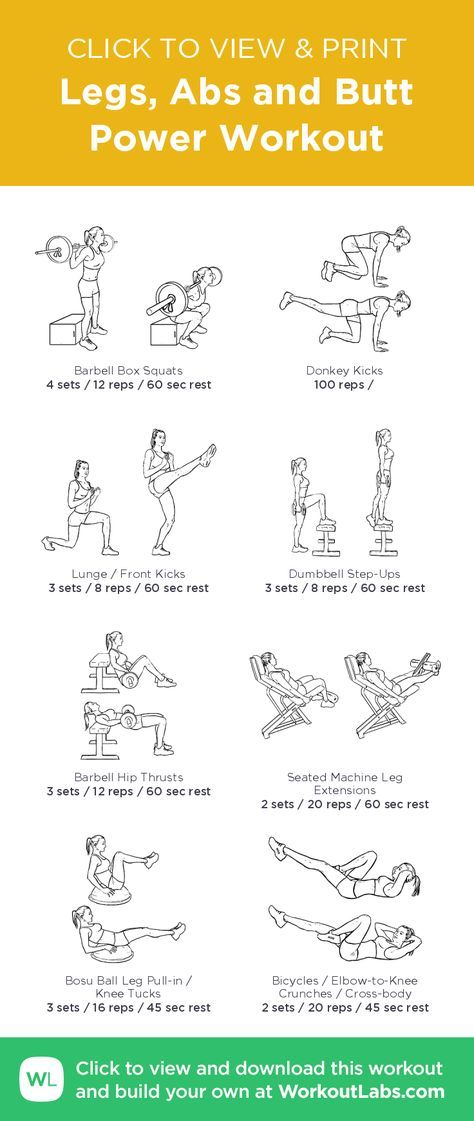 Butt and ab workout
