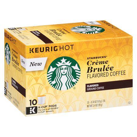 Starbucks Christmas Flavored Kcups 2020 Starbucks K Cups Coffee Creme Brulee in 2020 | Coffee creme brulee