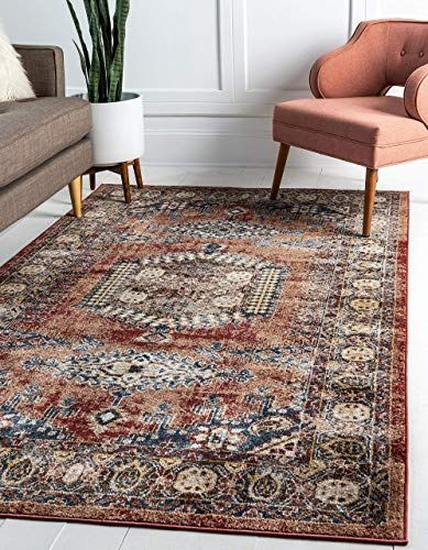Great For Unique Loom Utopia Collection Traditional Geometric Tribal Warm Tones Terracotta Area Rug 8 Area Rugs For Sale Rugs In Living Room Beige Area Rugs